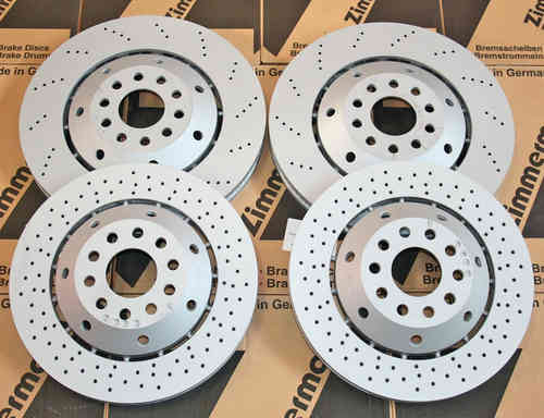 RS4 Brake Discs 360mm 2 piece Alloy Pot