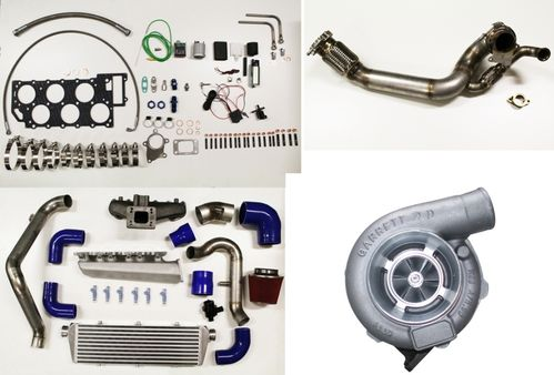 VR6 Turbo Kit Deluxe (V-Band, Kupfermuttern, Stehbolzen, etc....)